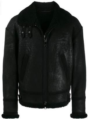 Neil Barrett zipped shearling jacket