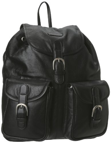 Leatherbay Leather Backpack with Pockets