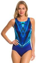 Longitude Space Odyssey Highneck One Piece Swimsuit 8138706