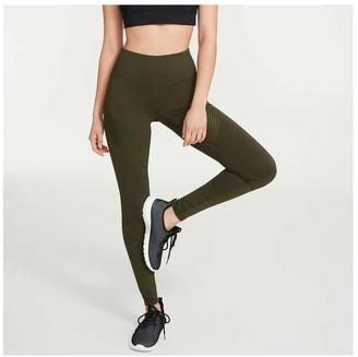 Joe Fresh Women's Active Moto Legging, Dark Olive (Size M)