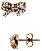 Marc Jacobs Pavé Twisted Bow Stud Earrings