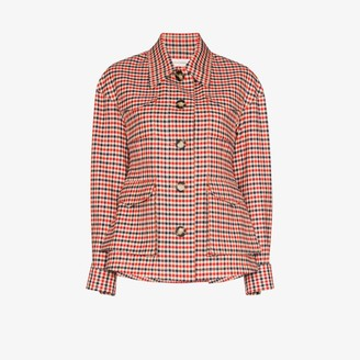 Wales Bonner military four pocket check jacket