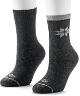 Columbia 2-pk. Snowflake Heavyweight Wool Crew Socks - Women
