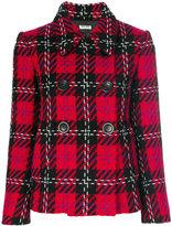 Miu Miu plaid stitched blazer