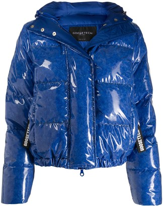 Goose Tech Blue Puffer Jacket