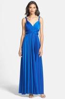 Plus Size Women's Dessy Collection Convertible Wrap Tie Surplice Jersey Gown