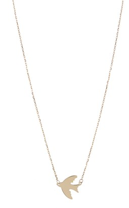 KARAT RUSH 14K Yellow Gold Airplane Pendant Necklace
