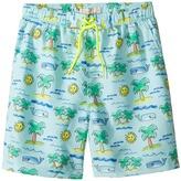 Stella McCartney Taylor Fluro Beach Print Swim Shorts Boy's Swimwear