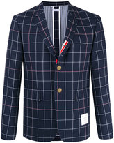 Thom Browne checked blazer - men - Silk/Cotton/Wool - 1
