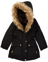 Catherine Malandrino Faux Fur Trimmed Hooded Parka (Little Girls)