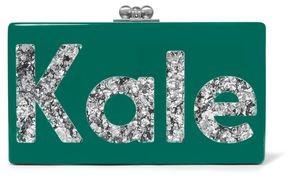 Edie Parker Jean Kale Glittered Acrylic Box Clutch