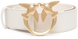 Pinko Logo-Plaque Leather Belt