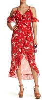 Reverse Dahlia Wrap Dress
