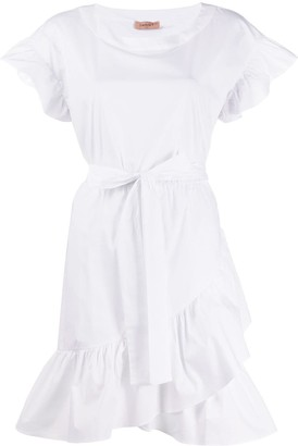 Twin-Set Ruffle-Trimmed Dress