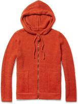 The Elder Statesman Tyro Baby Alpaca Wool Zipped Hoodie