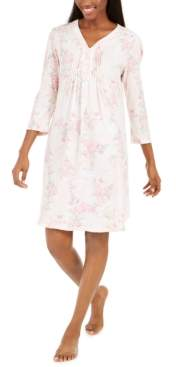 Miss Elaine Women's Cottonessa Knit Short Nightgown