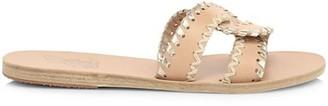 Ancient Greek Sandals Desmos Flat Whipstitch Leather Sandals