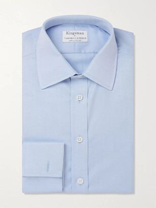 Kingsman + Turnbull & Asser White Double-Cuff Cotton-Twill Shirt