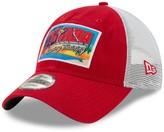 New Era Men's Red St. Louis Cardinals Spring Training Postcard Trucker 9TWENTY Snapback Hat