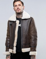 Schott Shearling Flight Jacket