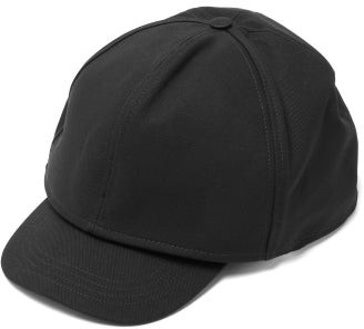 Raf Simons Double-layer Oversized Cotton-twill Baseball Cap - Mens - Black