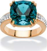 Seta Jewelry Cushion-cut Denim Blue Crystal Ring Made With Swarovski Elements.