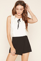 Forever 21 FOREVER 21+ Contemporary Tie-Neck Top
