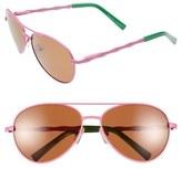 Lilly Pulitzer 'Amelia' 57mm Polarized Aviator Sunglasses