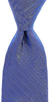 Roundtree & Yorke Trademark Basket Herringbone Narrow Silk Tie
