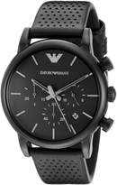 Emporio Armani Men's AR1737 Classic Analog Display Analog Quartz Black Watch
