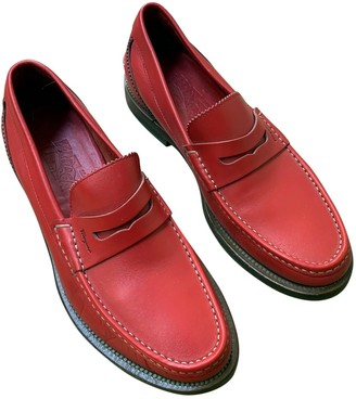 Salvatore Ferragamo Red Leather Flats