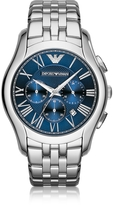 Emporio Armani New Valente Silver Tone Stainless Steel Men's Watch