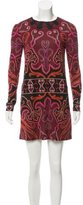 Rachel Zoe Printed Silk Mini Dress