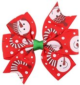 Gillberry Baby Girls Christmas Ornaments Bowknot Hairpin Headdress (D)