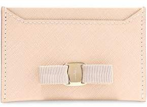 Salvatore Ferragamo Vara Bow-embellished Textured Leather Cardholder