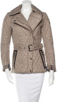 Belstaff Leather-Trimmed Quilted Jacket