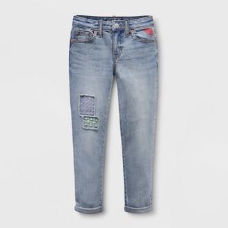 Cat & Jack Girls' Girlfriend Embroidered Patch Jeans - Cat & JackͲ Medium Wash