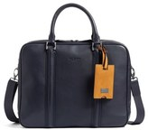 Ted Baker Men's 'Dice' Leather Briefcase - Blue