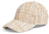 BP Women's Tweed Baseball Cap - Pink