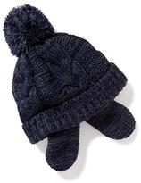Old Navy Cable-Knit Pom-Pom Trapper Hat for Baby