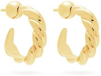 Sophie Buhai Rope Large 18kt Gold-vermeil Hoop Earrings - Gold