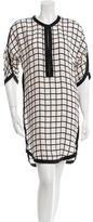 Etoile Isabel Marant Silk Grid Print Dress