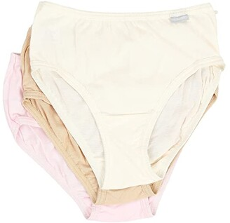 Jockey Elance Cotton Classic Fit Hipster (Ivory/Sand/Pink Pearl) Women's Underwear