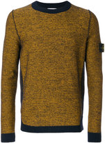 Stone Island Melange embroidered jumper