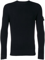 Stone Island fitted crew neck sweater