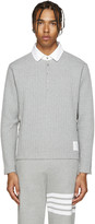 Thom Browne Grey Round Collar Polo