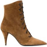 Saint Laurent lace-up suede ankle boots