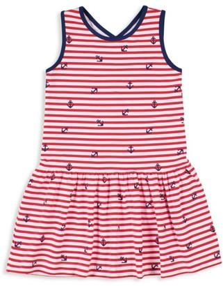 Florence Eiseman Little Girl's Striped Anchor Dress