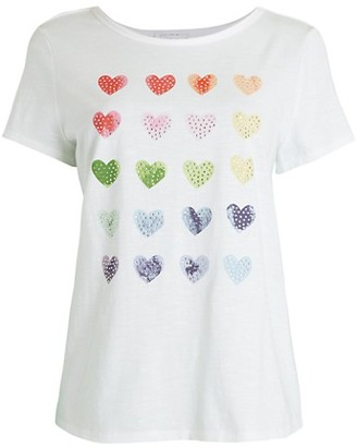 For The Republic Multi Heart Graphic T-Shirt