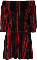 Sonia Rykiel off-shoulder velvet dress - women - Polyamide/Viscose - XS